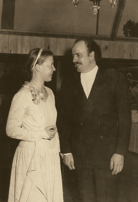 Korczak and Ruths Wedding in 1950