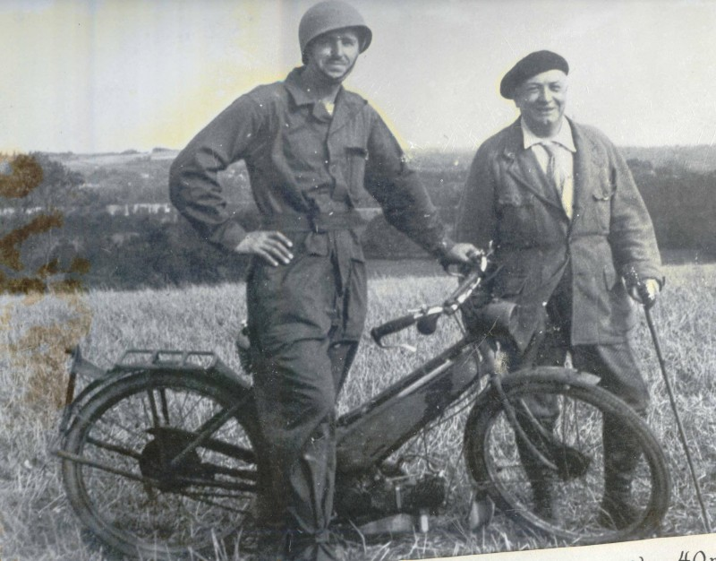 Korczak with bicycle