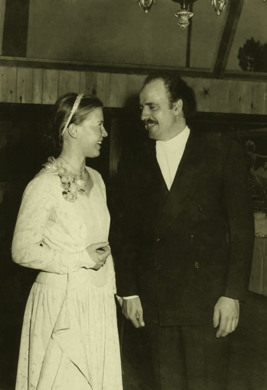 Korczak and Ruth on their wedding day