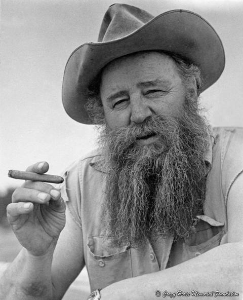 Korczak with cigar
