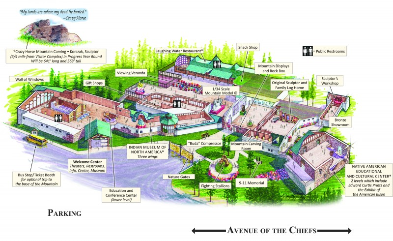 Crazy Horse Memorial Facilities Map
