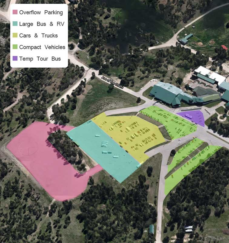 Crazy Horse Memorial Parking Area Map