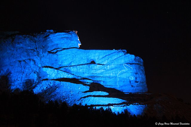 Lighting Up Blue