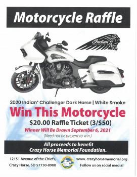 The 2021 Motorcycle Raffle has Opened