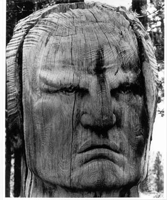 Crazy Horse Wooden Bust