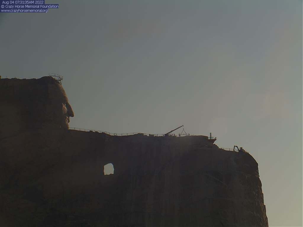 Webcam Crazy Horse Memorial - Custer County