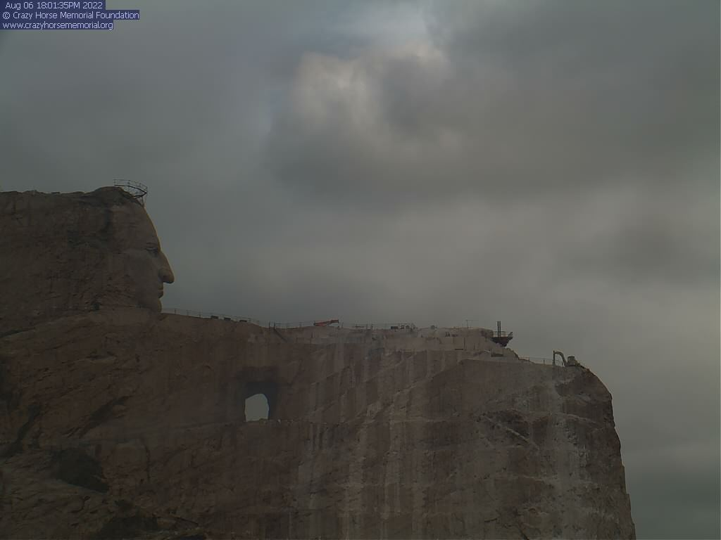 The most recent image of the Crazy Horse Mountain Carving